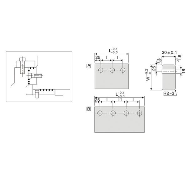Oilless Cam Wear Plate - Upper Plate